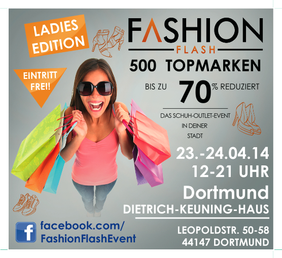 1c9f2a58827371 Fashion Flash - Das Schuh Outlet Event in Dortmund