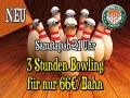 3 Stunden Bowling für nur 66 Euro pro Bahn