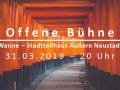 Offene Bühne Dresden im März 2019