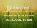 """""""Bühne frei!"""" im April 2020"""