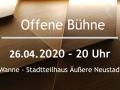 Offene Bühne Dresden im April 2020