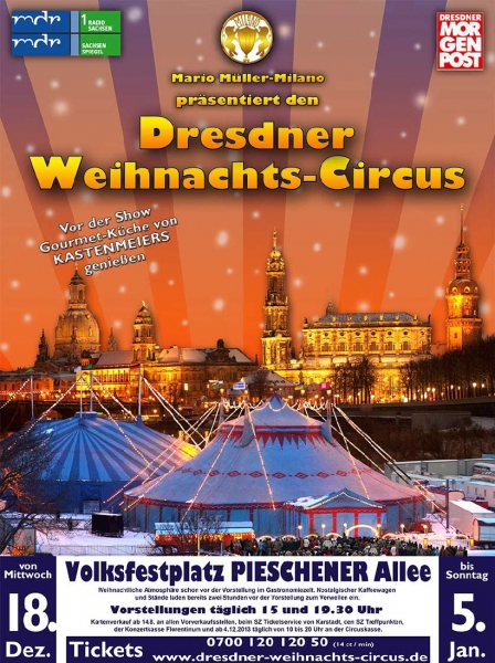 dresdner weihnachts circus am fr 27 dezember 2013 15. Black Bedroom Furniture Sets. Home Design Ideas