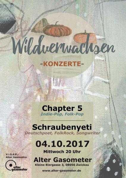 Wildverwachsen Wohnzimmerkonzert Am Mi 04 Oktober 2017