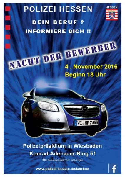 nacht der bewerbung - Polizei Hessen Bewerbung