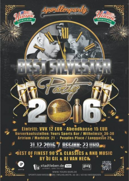 Silvester 2016 Coyote Cafe Meets Yours Sports Bar Am Sa 31