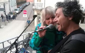 Balkonkonzert Steingasse No Exitus-Band feat. Coco Safir Fotos